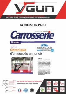 Pistolet à cartouches VGUN adaptable sur visseuse dans Carrosserie salon Equip auto 2019